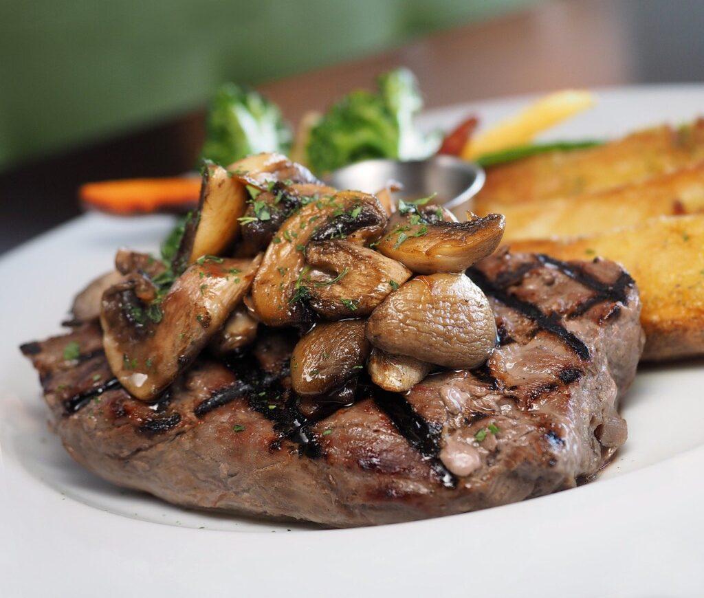 steak, sirloin, meat