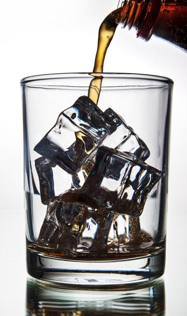 ice cubes, refreshing, coke